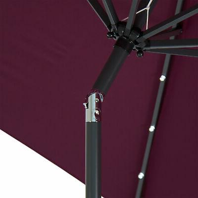 BCP Lighted Patio Umbrella w/ Tilt Fade-Resistance