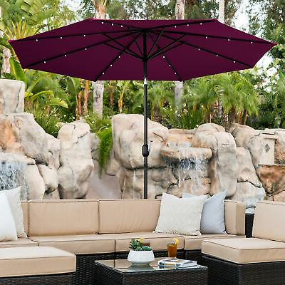 BCP Lighted Umbrella Tilt Fade-Resistance