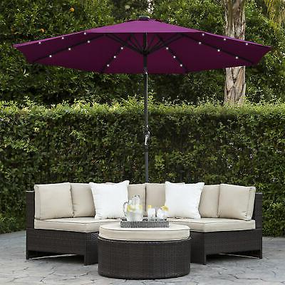 BCP 10ft Lighted Patio Umbrella w/ Tilt