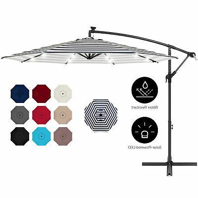 bcp 10ft solar led offset hanging patio