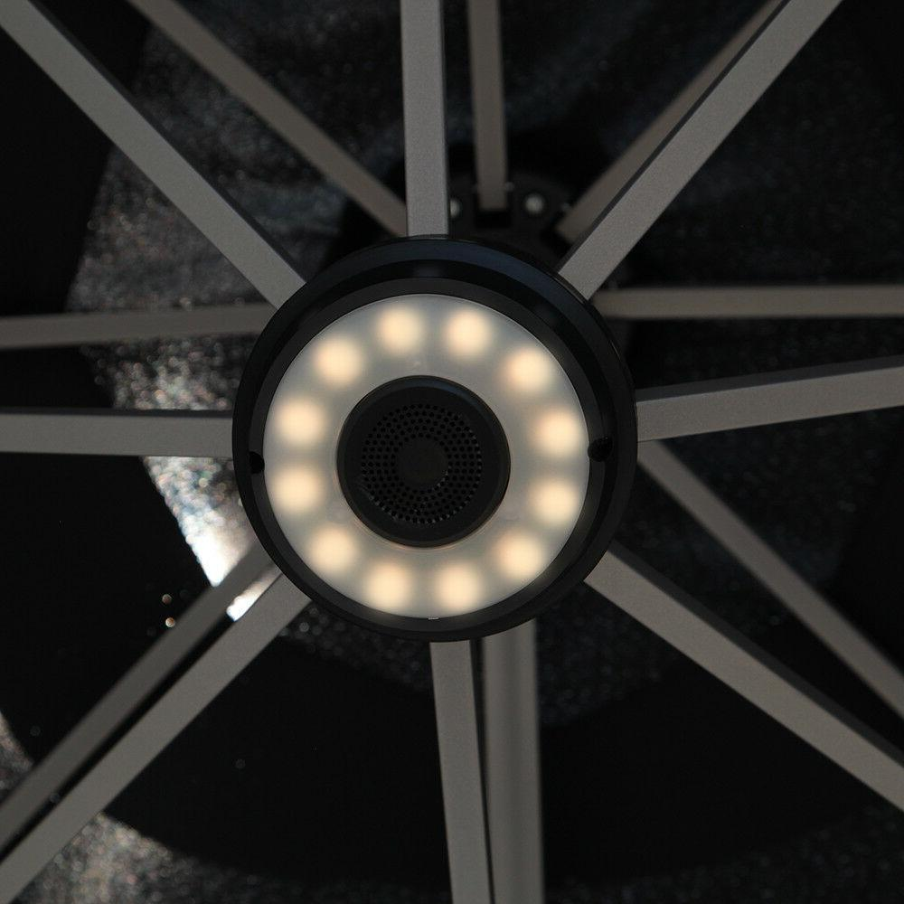 Black Umbrella 10' LED Speaker