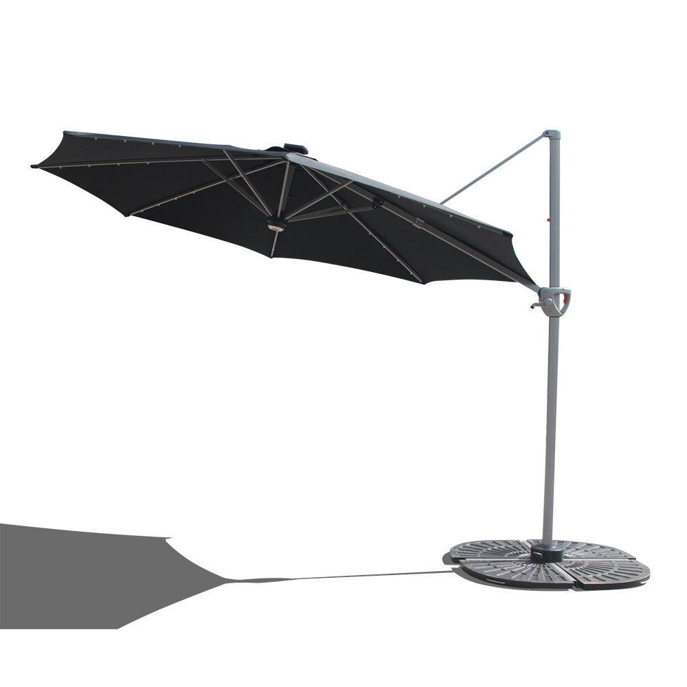 Black Umbrella 10' with LED