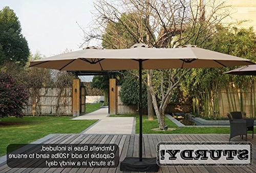 Kozyard Butterfly Patio Umbrella with Crank Base