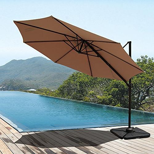 COBANA 10ft Patio Umbrella Tilt and Degree Rotation Function,
