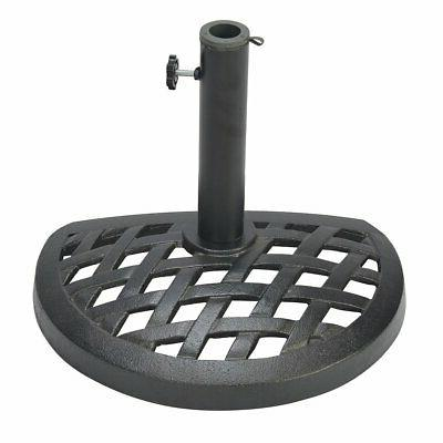 cast iron half umbrella base 17 7