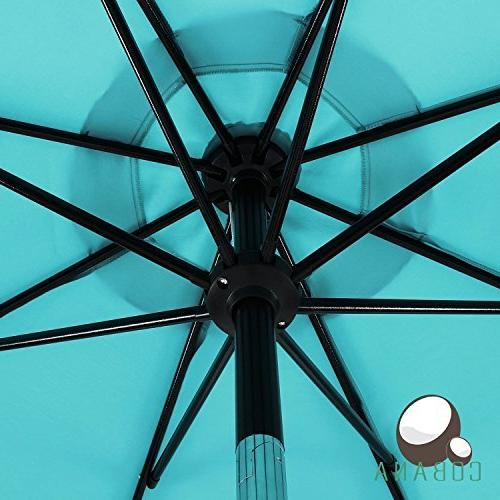 COBANA Umbrella Outdoor Aluminum of with 8 Ribs