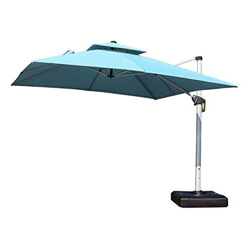 double deluxe square patio umbrella