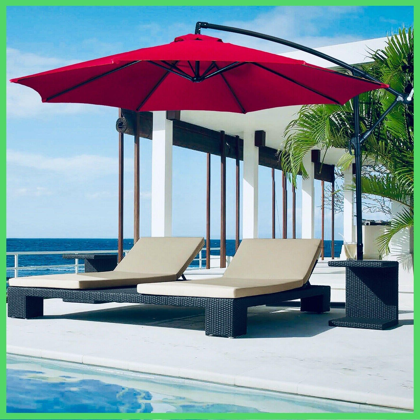 hanging outdroor offset umbrella patio 10ft fdw