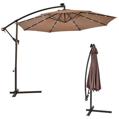 10' Hanging Solar Umbrella Patio Sun Offset Market