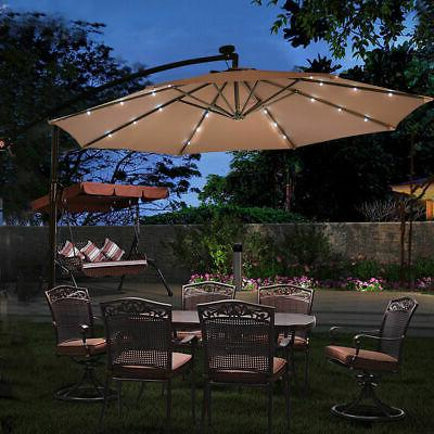 hanging solar umbrella patio sun