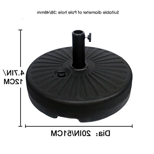 Sunnyglade Heavy Round Water Filled Patio Outdoor Umbrella Base Stand with Umbrella Dia Umbrella