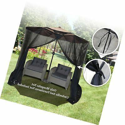 BenefitUSA Insect Mosquito Net Bug for 9' or Umbrella Set...