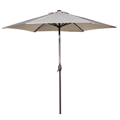 market aluminum table umbrella