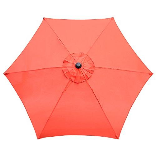 Le 8 Market Patio Umbrella and Push Bottom Tilt, Brick