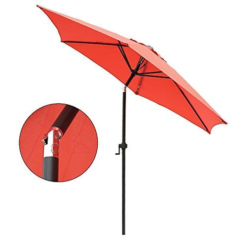 Le Market Umbrella and Bottom Brick Red