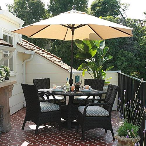 EliteShade 9Ft Outdoor Patio Aluminum Table Cover