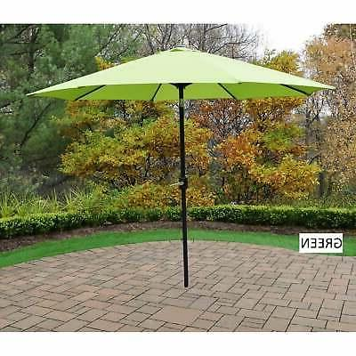 Metal Framed 9-foot Umbrella with Crank and system
