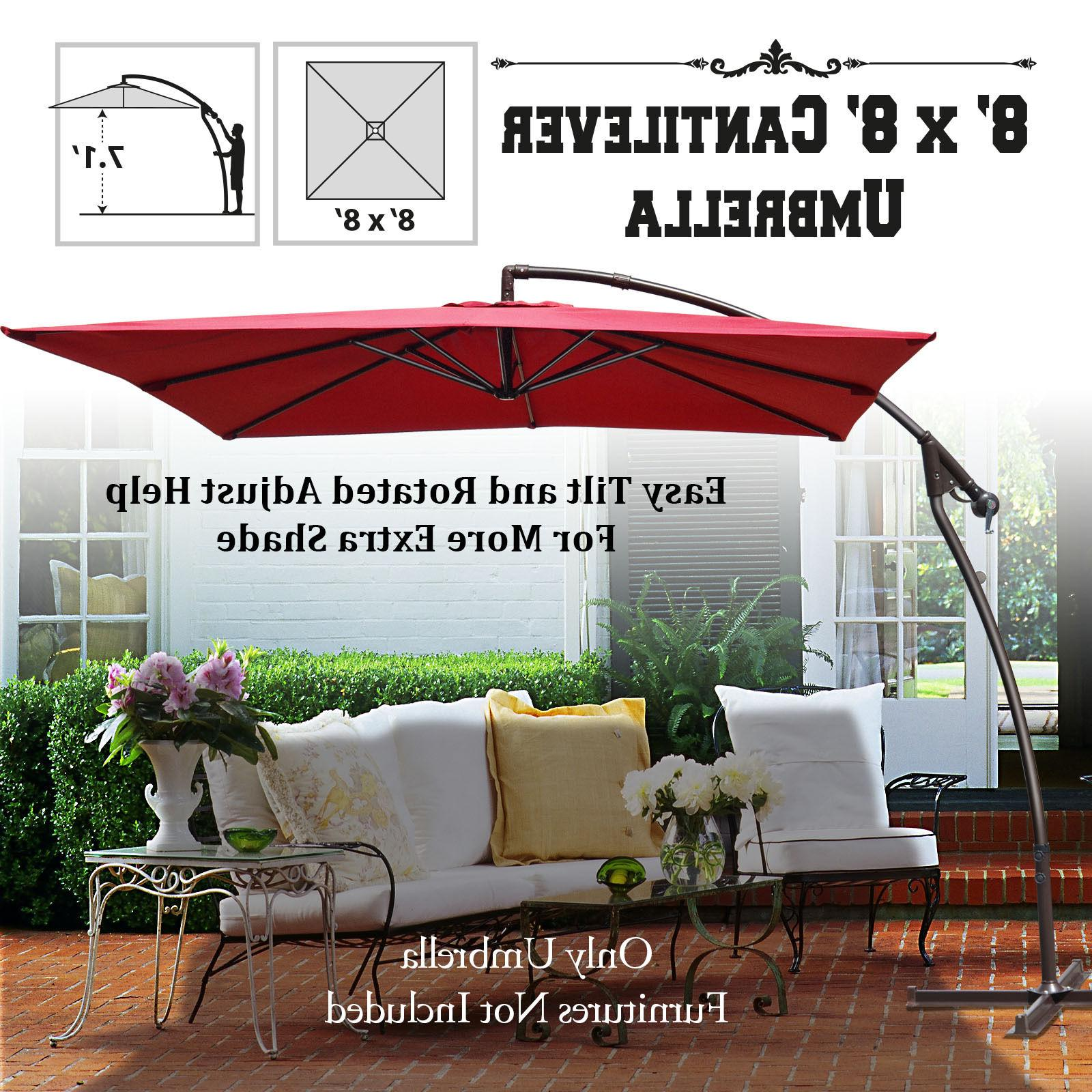 new 8 2ft banana patio umbrella cantilever