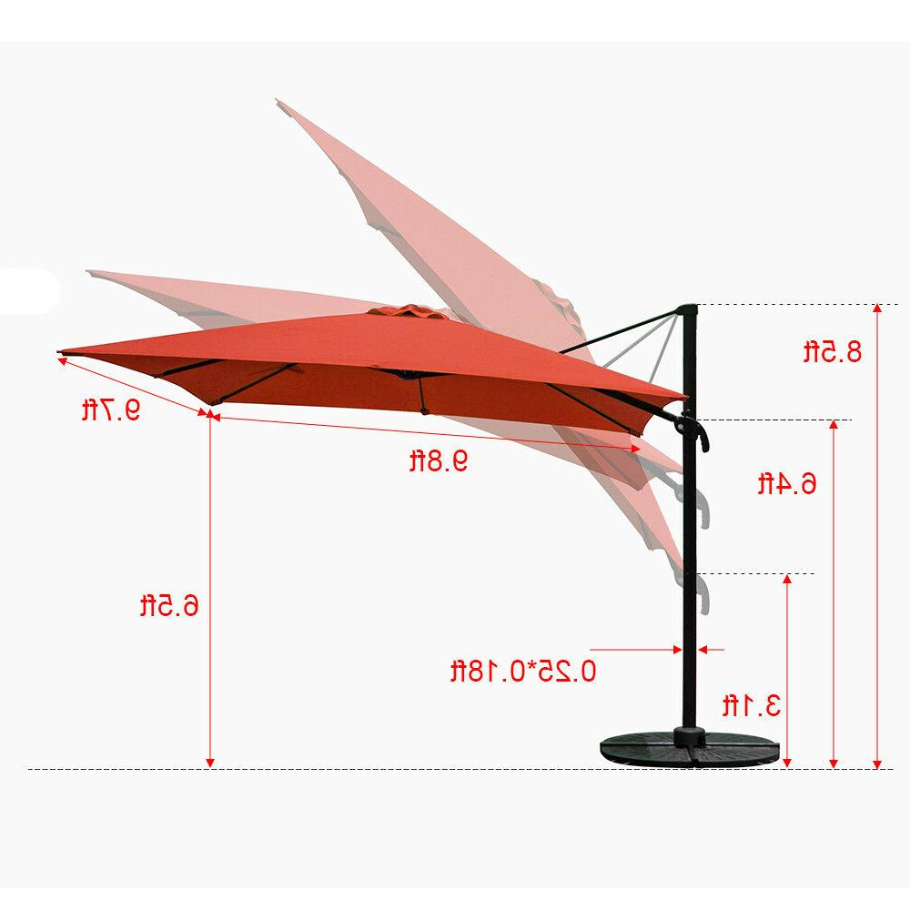 New Hanging 10ft Offset Rectangular Cantilever with Cross