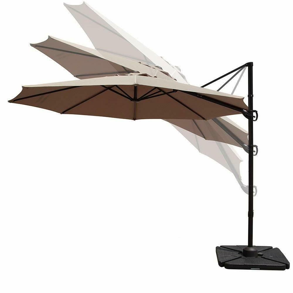 10' Patio Offset Hanging Umbrella with Tilt Cantilever