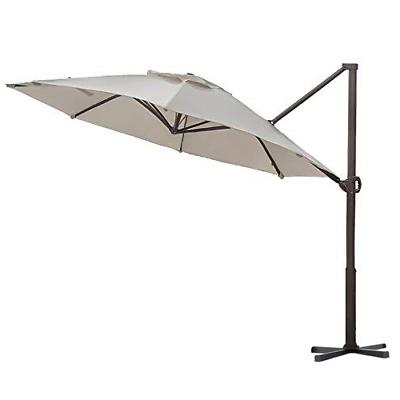 offset cantilever umbrella hanging