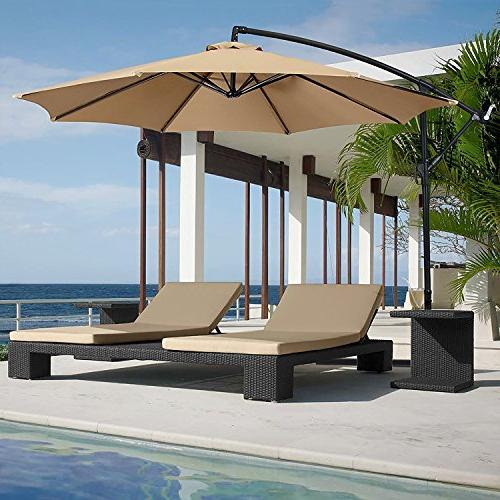 offset hanging patio umbrella aluminum