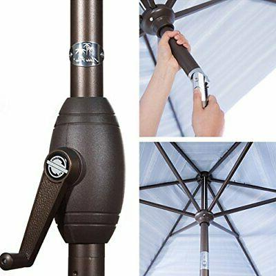 Abba Patio Market Umbrella Push Button and Crank,
