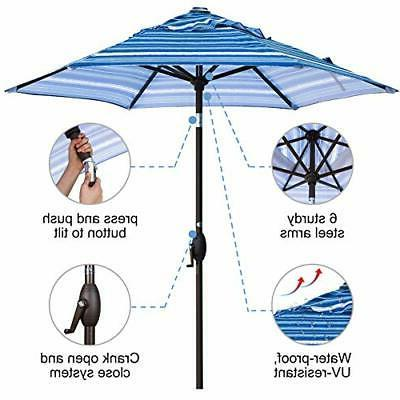 Abba Patio Market Table Umbrella Push Tilt Crank,