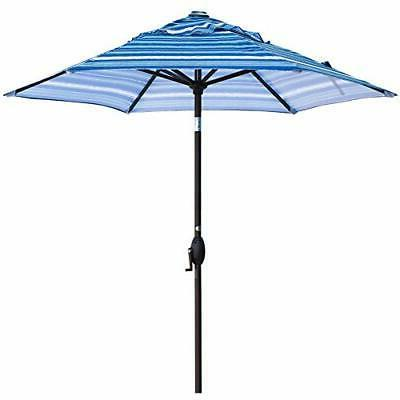 Abba Patio Outdoor Market Umbrella Push Button Tilt Crank,