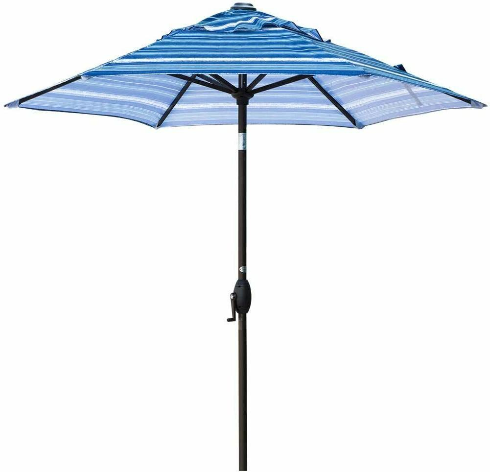 outdoor patio market table umbrella with push