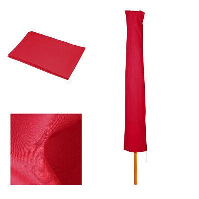 outdoor patio umbrella protective canopy red cover