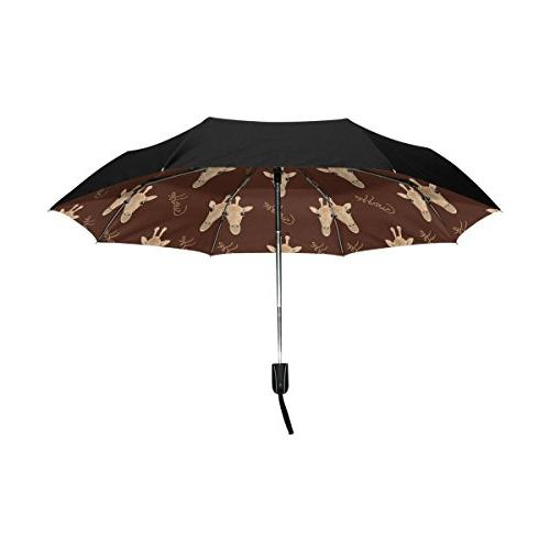 outer black umbrella giraffe uv