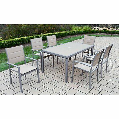 Oakland Aluminum Dining Set with Optional