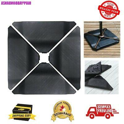 Patio Cantilever Offset Umbrella Base Plate Set Black Pack o