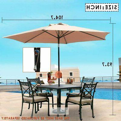 Patio Umbrella 9' Aluminum Outdoor Tilt W/Crank