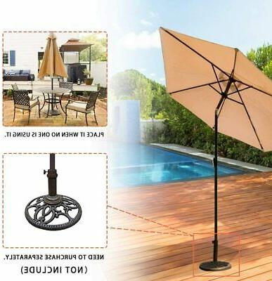 Patio Umbrella 9' Aluminum Outdoor Patio Tilt