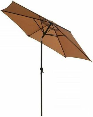 Patio Umbrella Outdoor Patio Tilt W/Crank