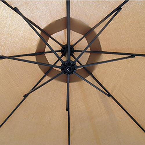 Patio 10' Hanging Umbrella Outdoor Umbrella