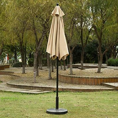 Patio Umbrella Outdoor Market with Button Sunnyglade