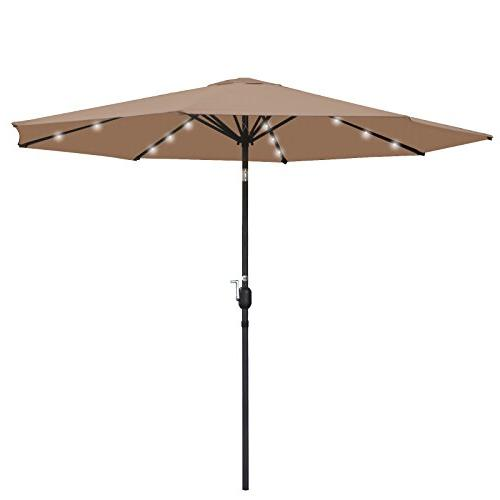 SUPER Patio Umbrella Power, with Tilt Adjustment and Crank Perfect for Garden, Backyard, and More