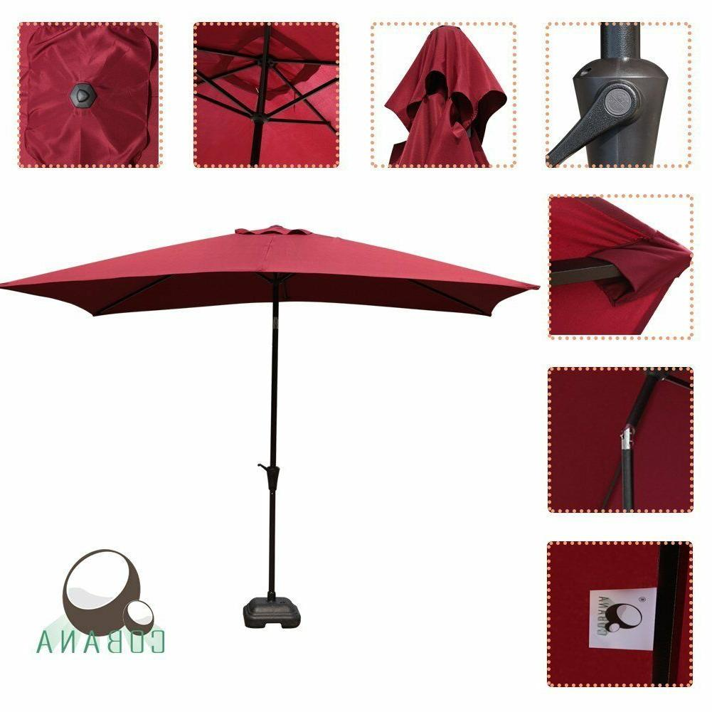 COBANA Umbrella Patio Umbrella with Burgundy