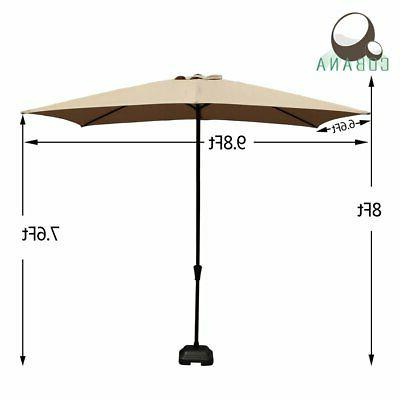 COBANA Rectangular Umbrella Outdoor with Push But...