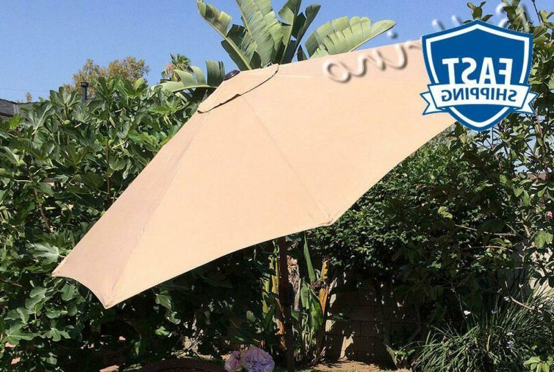 replacement medium coffee strong thick umbrella canopy