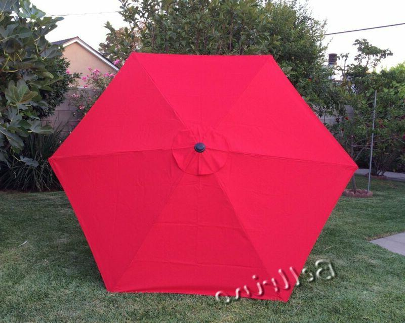 "BELLRINO DECOR Replacement RED "" STRONG  THICK "" Umbrella Ca"