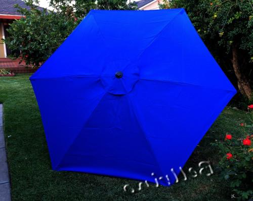 replacement royal blue umbrella canopy