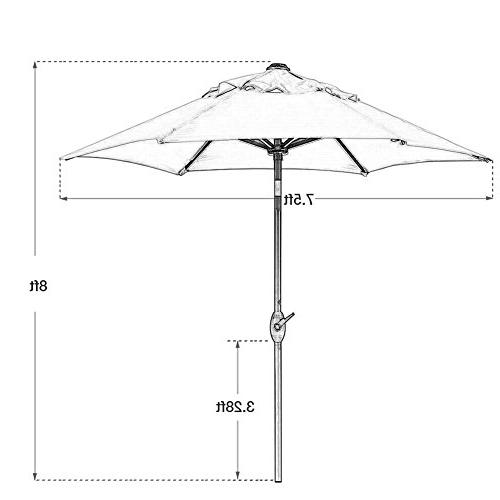 Abba Patio Round Outdoor Patio Umbrella Tilt and Red