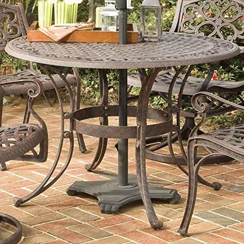 round patio table rust brown