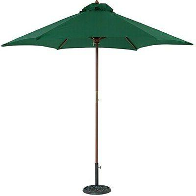 round wood patio umbrella
