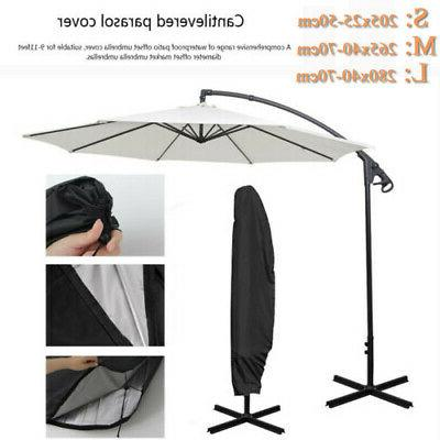 S/M/L Parasol Banana Umbrella Cover Waterproof Wind Shield D