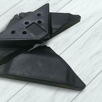 SALE - Patio Cantilever Offset Umbrella Plate Pack 4, Black